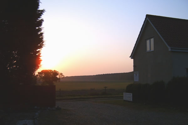 View across the fields from Sunset Cottage